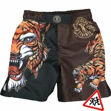 Kids Shorts Hardcore Training Tiger Niño Pantalones Cortos MMA Fitness
