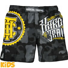 Kids Shorts Hardcore Training Night Camo Niño Pantalones Cortos MMA Fitness
