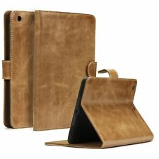 Akira Manufactura Cuero Genuino Funda iPad Billetera Cover Case Wallet Marrón