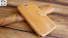 Akira Manufactura Cuero Genuino Funda LG G4S Billetera Cover Case Wallet Marrón