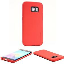 Urcover® Samsung Galaxy S6 Edge Handy Schutz Hülle Back Case Cover Schale Rot