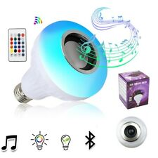 E27 Smart RGB Wireless Bluetooth Speaker Bulb Music Playing Dimmable LED Bulb