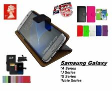 Leather Flip Wallet Book Case Cover Pouch For Samsung Galaxy S/J/A/Note Series