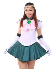 Sailor Moon Super S Cosplay Costume Sailor Jupiter Kino Makoto Uniform Set V3