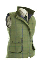 LADIES WOOL TWEED FITTED WAISTCOAT GREEN CHECK NEW SIZES 8-22 RIDING WALKING