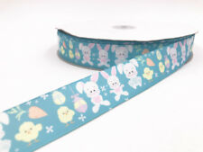 DIY2-100 Yard 1'' 25MM rabbit Printed Grosgrain Ribbon Hair Bow Sewing Ribbon