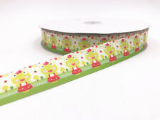 DIY2-100 Yard 1'' 25MM frog Printed Grosgrain Ribbon Hair Bow Sewing Ribbon