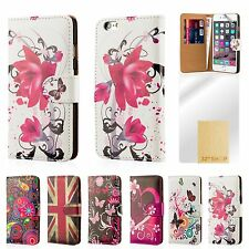 Cuero Artificial Libro De Diseño Funda Apple iPhone Modelos + PROTECTOR PANTALLA