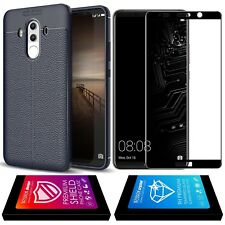 Noziroh Cover Case Carbon 3D Shockproof+Vidrio Templado Huawei Mate 10 Pro Azul