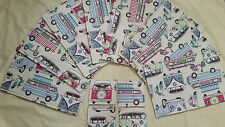 Camper Van Table Placemats and Coasters. 100% Cotton Designer Fabric. Handmade
