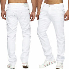 w34-w44 Vaqueros Hombre BLANCO TALLA ESPECIAL Denim Regular Ajustado Stretch