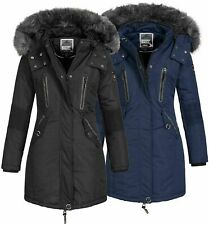 Geographical Norway Damen Winter Jacke Parka Anorak Outdoor  Mantel Fell Kapuze