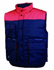 DELTA PLUS PANOPLY NAVY BLU & ROSSO SIERRA GILET IMBOTTITO LAVORO Canotta