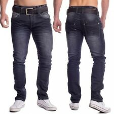 vintage uomo slim fit jeans denim stone washed Pantaloni stretch stile