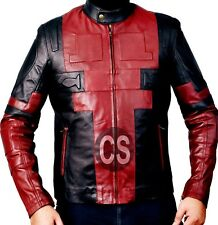 Men Wade Wilson Comic Ryan Reynolds Deadpool 2 Cosplay Genuine Leather Jacket