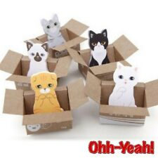 KAWAII ANIMAL STICKY NOTES 3D CARTON PAPER NOVELTY CAT MEMO PAD CUTE STATIONARY
