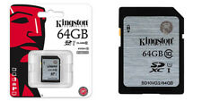 TARJETA MEMORIA KINGSTON SD HC 16 32 64 GB 16GB 32GB 64GB Clase 10 Original