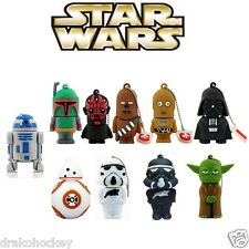 Pendrive Star Wars Lápiz USB FLASH DRIVE 8-16-32-64 gb Coleccion friki yoda cine