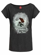 Disney ARIELLE WAITING FOR Usted Camisa de la muchacha Mujeres Camiseta Gris