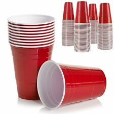 Amercian Plastic Red Party Cups Beer Pong Disposable 50/100/200 Birthday Party