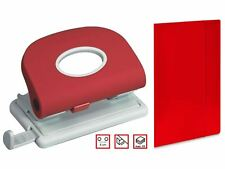 A4 Red Desk Hole Punch or A4 Red Folder Paper Perforator Storage School Work