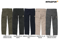 Pantaloni Carhartt Aviation pant in cotone slim a vita bassa regolabile tasconi