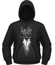 Lamb Of God 'Candle Light' Zip Up Hoodie - NUOVO E ORIGINALE