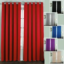 Thermal Blackout Curtains Pencil Pleat Eyelet Bedroom Window Insulated Darkening
