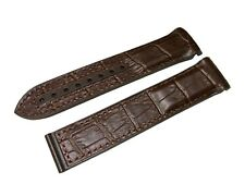 Brown Rubber/Leather Strap/Band for Omega SeaMaster/SpeedMaster 22mm + Clasp
