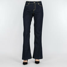 JEANS DONNA DONDUP BLUE DENIM BOOT-CUT SKINNY MADE IN ITALYPANTALONE NEON DP126