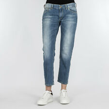 JEANS DONNA DONDUP BLUE DENIM SLIM FIT PANTALONE DIA P282 800 MADE IN ITALY