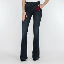 JEANS DONNA JACOB COHEN BLUE DENIM ZAMPA J7028 8364 MADE IN ITALY