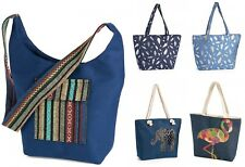 Womens Zip Up Summer Beach Bag Shoulder Bag Large Shopping Travel Reusable Tote