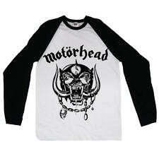 Motorhead 'ENGLAND' Long Sleeve Baseball Shirt - NUOVO E ORIGINALE