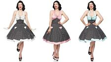 ROCKABILLY robe pin up vintage années 50 a pois polka dot roll retro dress SWING