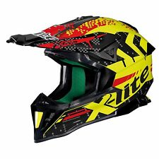 X-LITE X502 nan-nac CARBON GIALLO Off-road Motocross MX Casco da moto