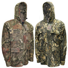 Mens Jungle Camo Fleece Jacket Fishing Hunting Coat Hiking Shooting Safari