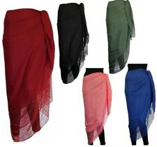 LARGE SIDE LACE SARONG BEACH POOL COVER UP SWIMWEAR WRAP PAREO FREE 180 X 100cm