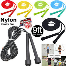 Skipping Rope Adult 9foot Long Approx Nylon Plastic Handles Gym Fitness Training