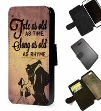 Beauty and the Beast phone case Inspired Tale as old as time faux leather case