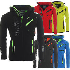 Geographical Norway Uomo Softshell Funzionale Pioggia Giacca Sportiva