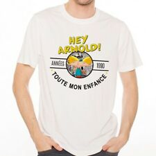T-Shirt Homme Blanc Années 90 - Hey Arnold!