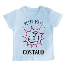 T-Shirt bébé Petit mais costaud - bleu