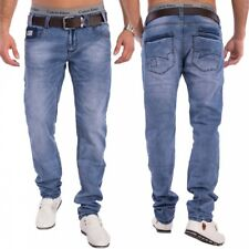 Denim Uomo Tapered Jeans Aderente Celeste Pantaloni stretch nr.1529 KYLE