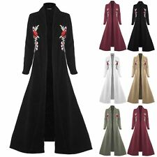 Ladies Embroidered Long Sleeve Floaty Open Front Stretchy Womens Floaty Cardigan