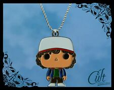 Stranger Things sterling silver / faux leather necklace with Dustin charm