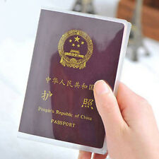 Clear Passport Cover Holder ID Card Travel Protector Wallet Organizer Case UK