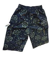 Abercrombie & Fitch Men's Wide fit 3/4 Shorts with elastic waist - Navy/Green