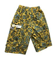 Abercrombie & Fitch Men's Wide fit 3/4 Shorts with elastic waist - Yellow / Blue