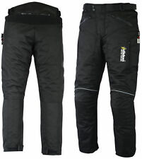 CE ARMOURED BLACK WATERPROOF MOTORBIKE MOTORCYCLE TROUSERS PANTS TEXTILE CORDURA